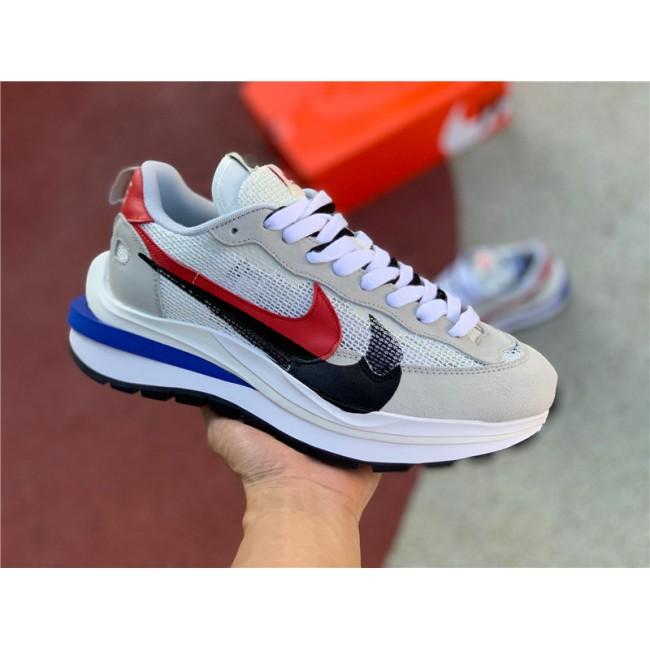 Mens/Womens Sacai x Nike Pegasua Vaporfly Villain Grey Blue Red