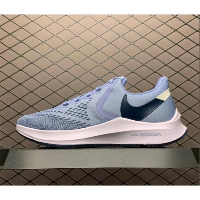 Womens Nike Air Zoom Winflo 6 Indigo Fog Running Shoes