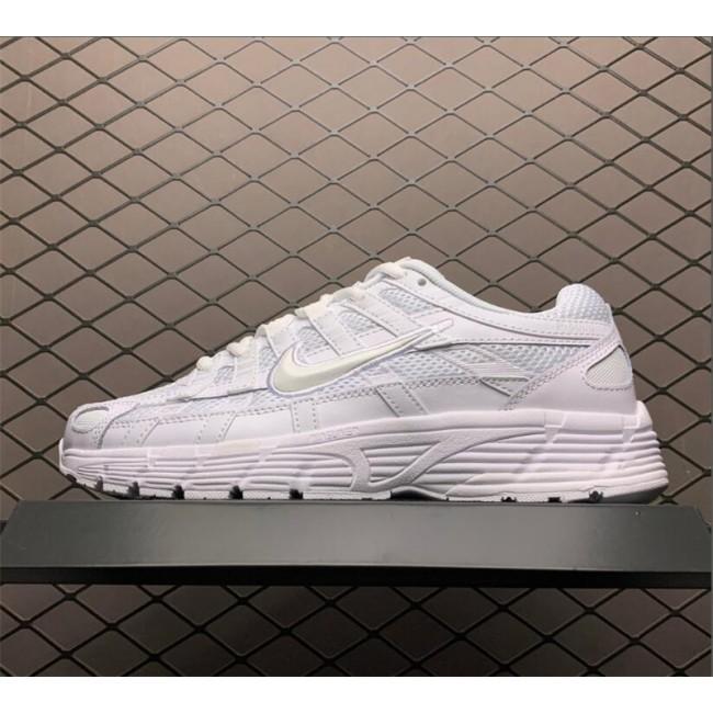 Womens Nike P-6000 Triple White Sneakers