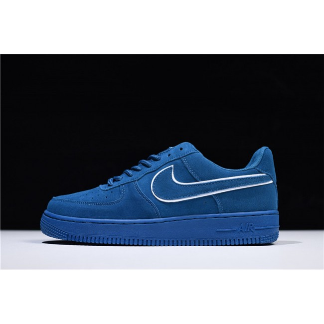 Mens/Womens and Nike Air Force 1 07 LV8 Low Suede Blue