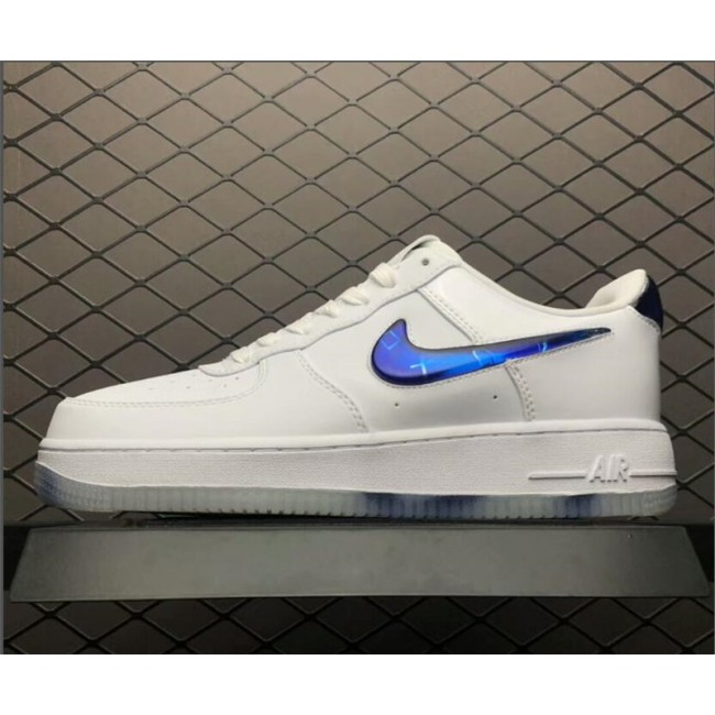 Mens/Womens and Nike Air Force 1 Low White BQ3634-100