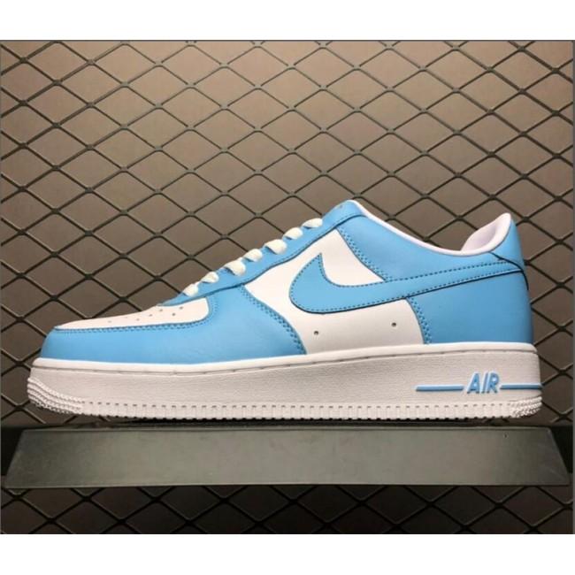 Mens Nike Air Force 1 Low Blue Gale White AQ4134-400