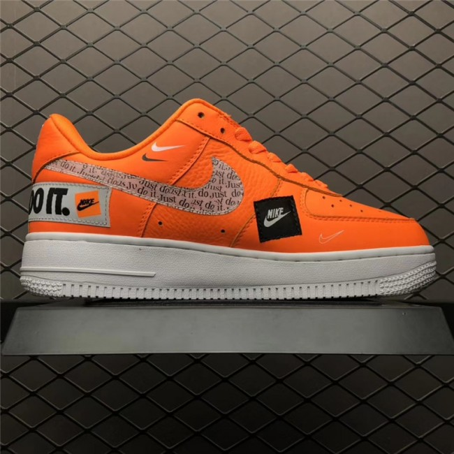 Mens/Womens New Nike Air Force 1 Low Just Do It Orange
