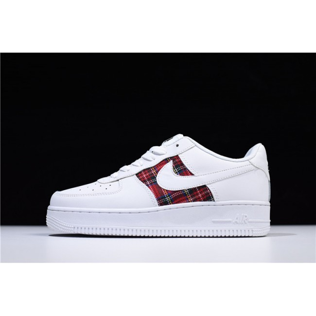 Mens/Womens Nike Air Force 1 07 Low Flannel White Red