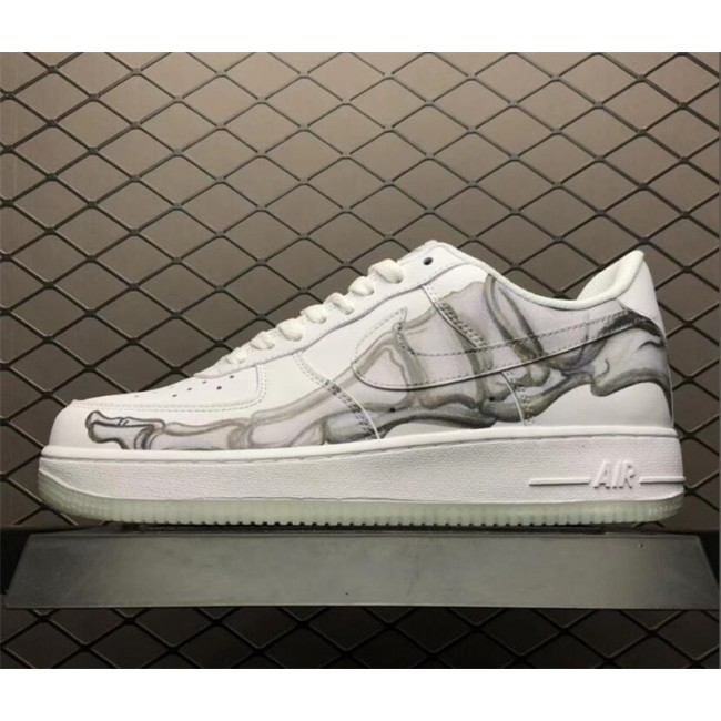 Mens/Womens Nike Air Force 1 07 QS Low Skeleton White