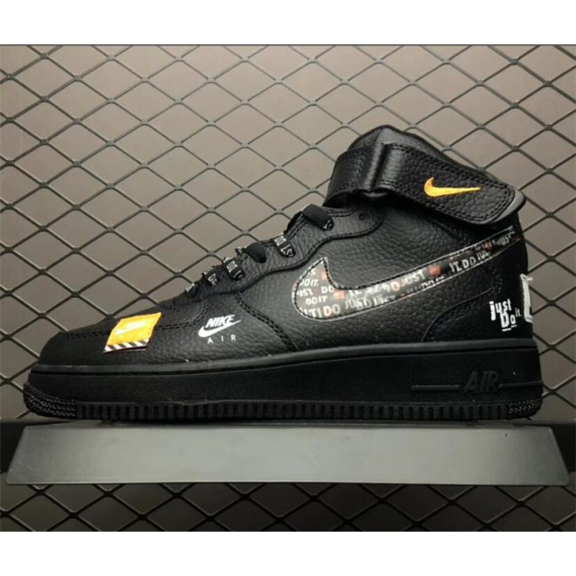 Mens/Womens Nike Air Force 1 AF1 Just Do It Black