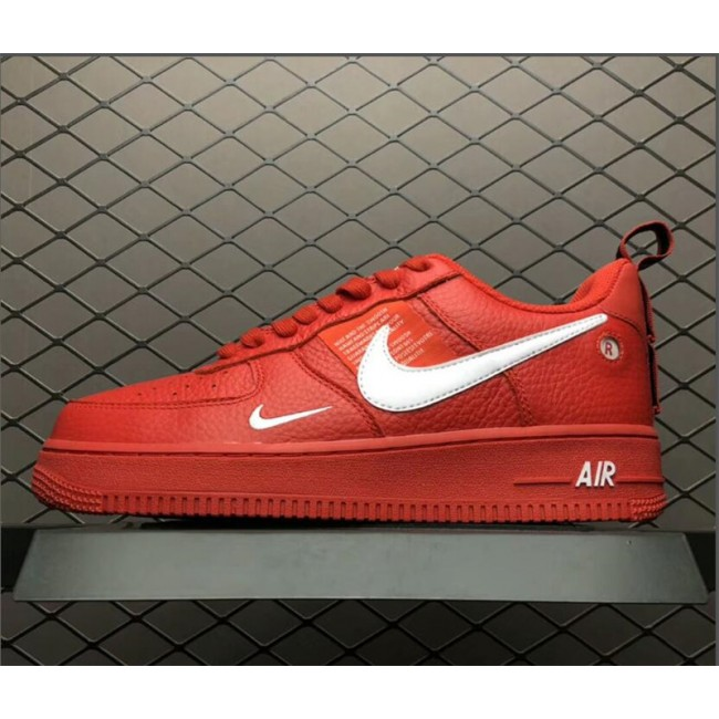Mens/Womens Nike Air Force 1 Low Red White Shoes