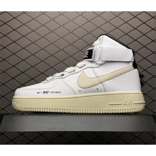 Mens/Womens Nike Air Force 1 Utility White Black Sneakers