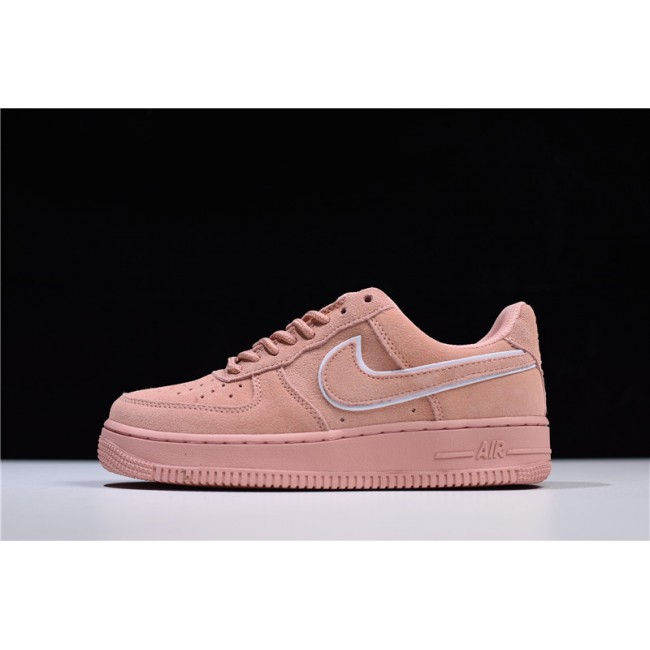Womens Nike Air Force 1 07 LV8 Low Red Suede Pink