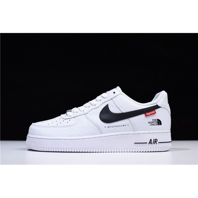Mens Supreme x The North Face x Nike Air Force 1 Low White Black