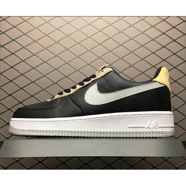 Mens Nike Air Force 1 07 Black Mica Green-Ridgerock