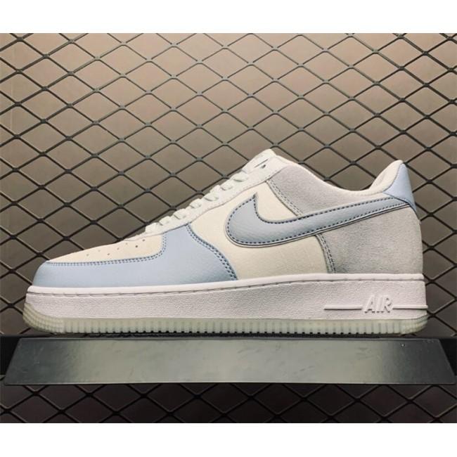Mens Nike Air Force 1 07 Light Armory Blue Obsidian Mist