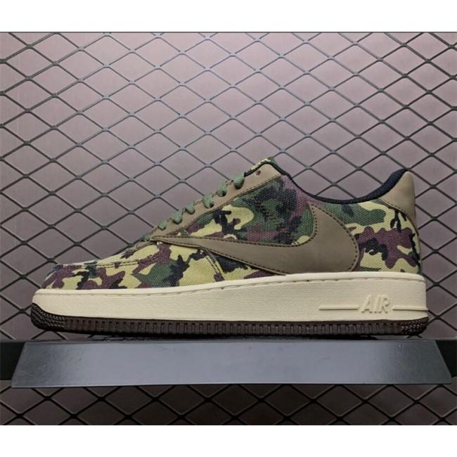 Mens Nike Air Force 1 07 Low Medium Olive Black