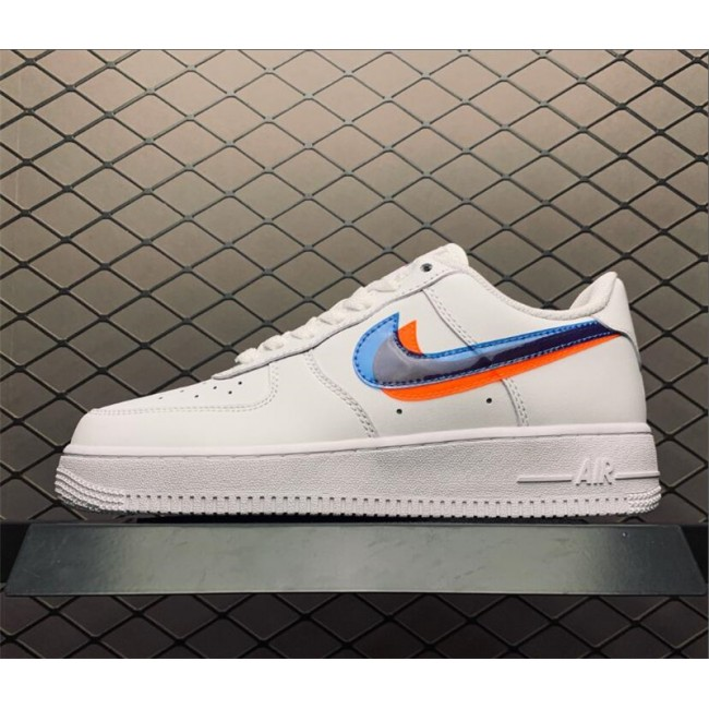 Womens Nike Air Force 1 Low Double Swoosh Casual Shoes