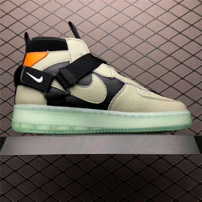 Mens Nike Air Force 1 Mid Utility Spruce Fog Green Black