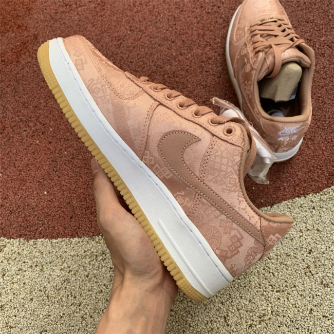 Mens/Womens Nike Air Force 1 Low Clot Rose Gold Silk