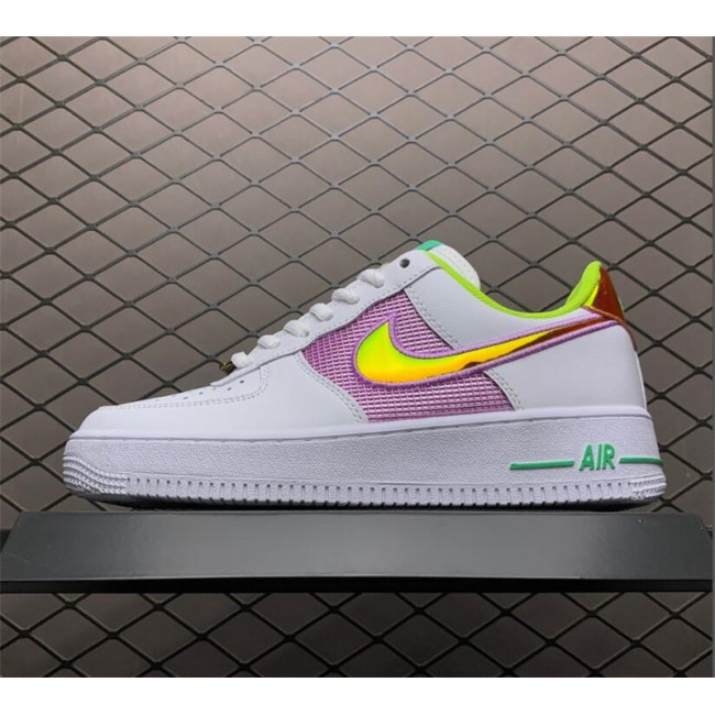 Womens Nike Air Force 1 Low Easter White Multi-Color Pastel
