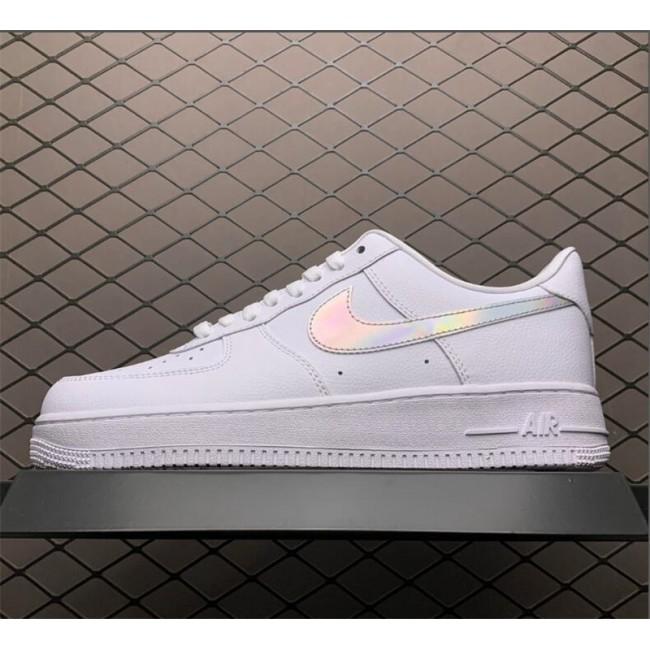 Mens/Womens Nike Air Force 1 Low Iridescent Swoosh White