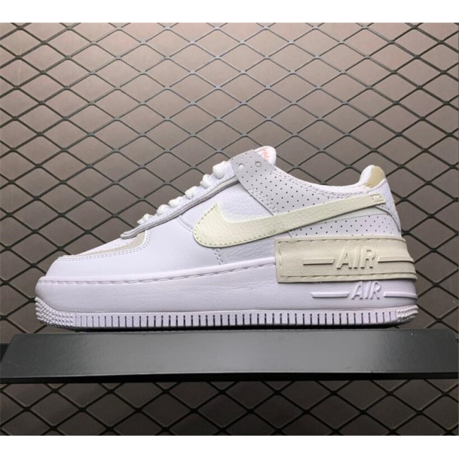 Womens Nike Air Force 1 Shadow White Atomic Pink-Sail