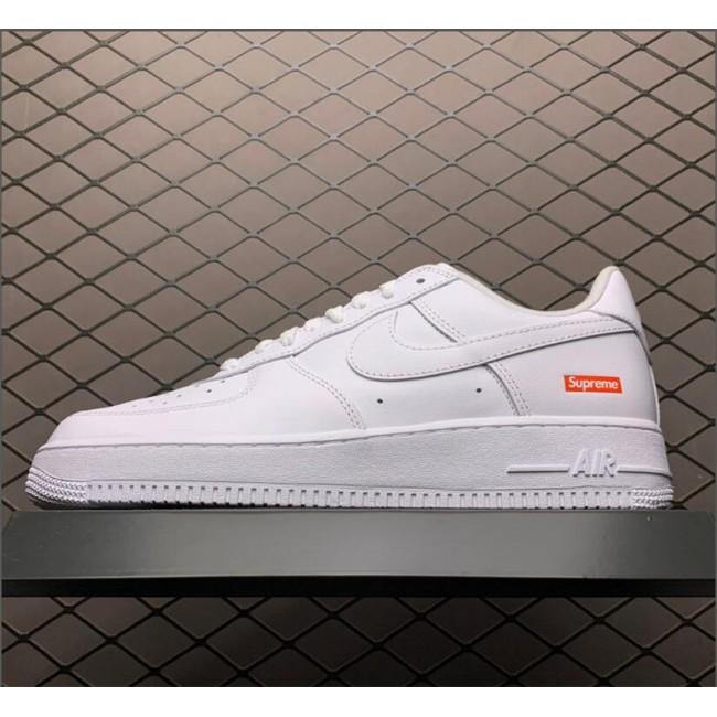 Mens Supreme x Nike Air Force 1 Low White Sale