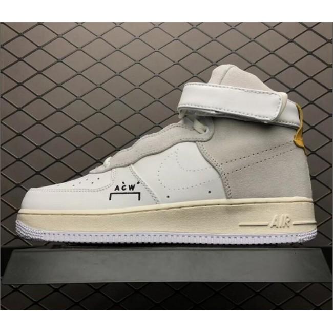 Mens A-Cold-Wall* x NikeLab Air Force 1 High White Grey