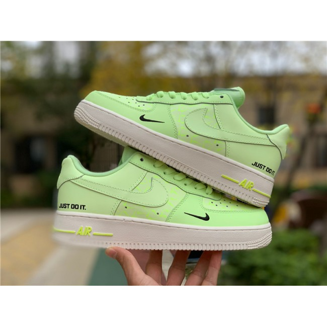 Mens/Womens Nike Air Force 1 Low Just Do It Neon Yellow