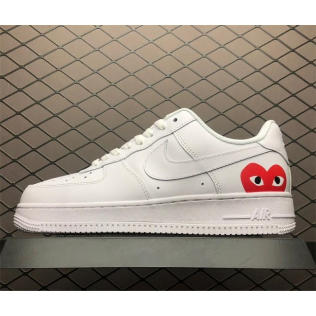 Mens/Womens Nike Air Force 1 07 White Red Casual Shoes