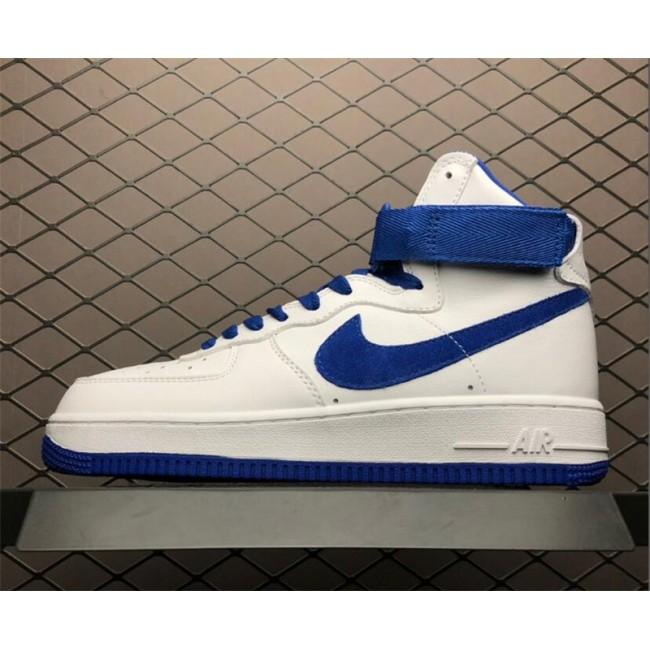 Mens/Womens Nike Air Force 1 High OG NAI KE White Game Royal
