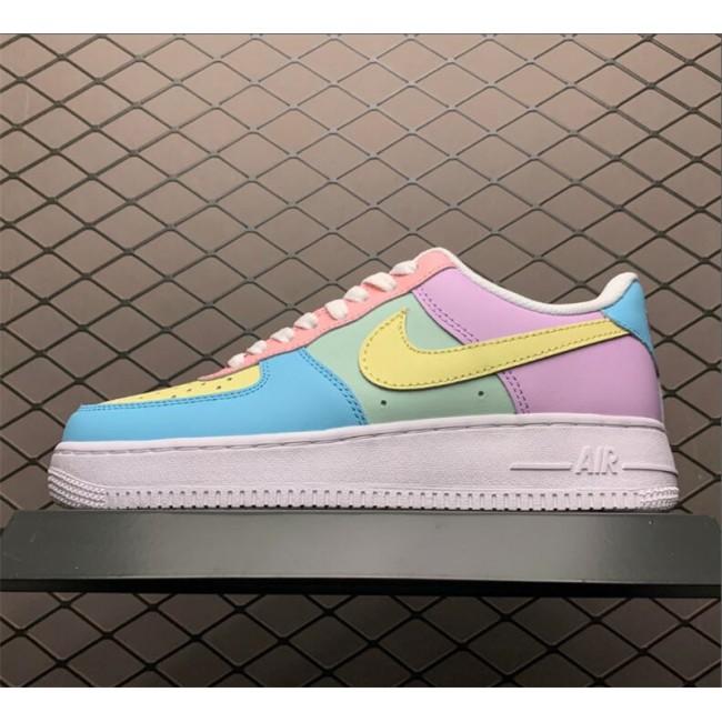Mens/Womens Nike Air Force 1 Shadow Purple Blue Yellow
