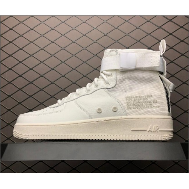 Mens/Womens Nike SF-AF1 Air Force 1 Mid Triple Ivory AA6655-100