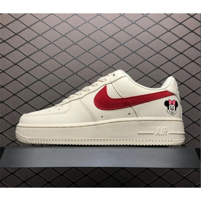 Womens Nike Air Force 1 07 SE PRM White Red AH6827-100