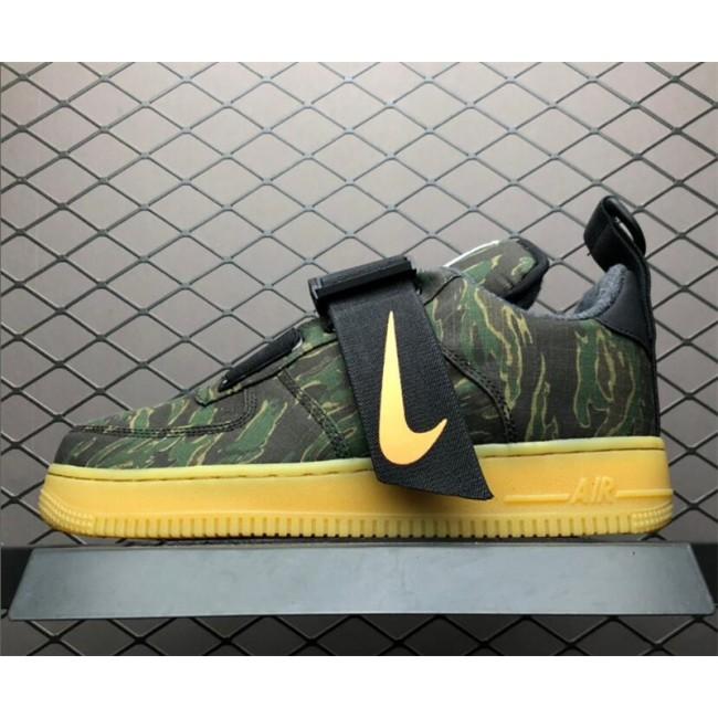 Mens/Womens Carhartt WIP x Nike Air Force 1 Utility Low Camo Green