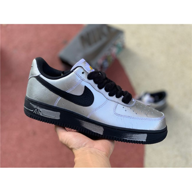 Mens/Womens Nike Air Force 1 07 x ParaNoise Silvery Black