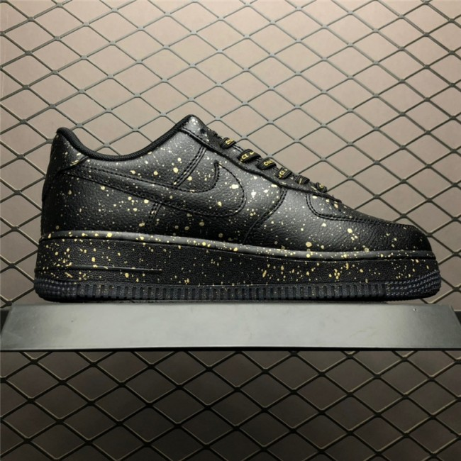 Mens/Womens Nike Air Force 1 Only Once Black Metallic Gold