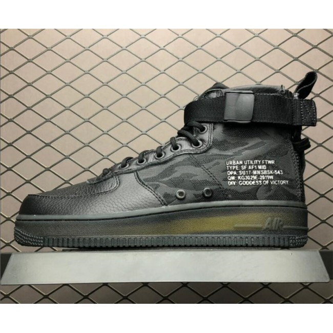 Mens/Womens Nike SF Air Force 1 Mid Black Cargo Khaki