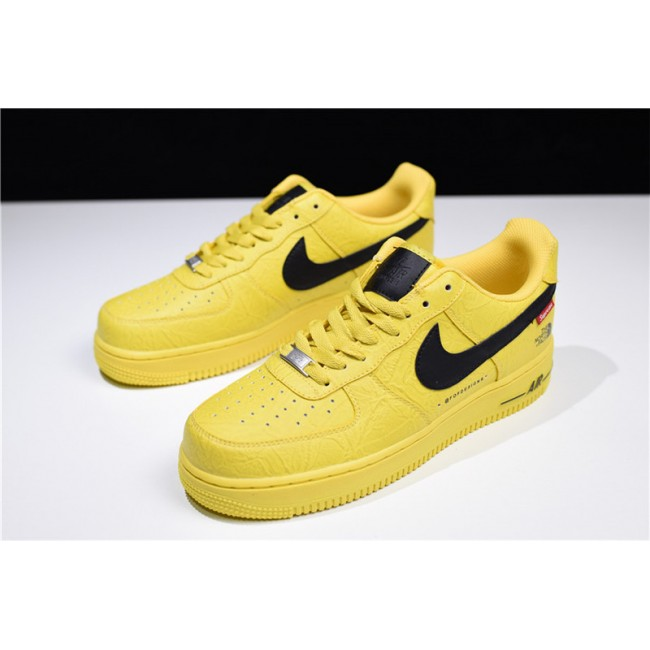 Mens/Womens Supreme x The North Face x Nike Air Force 1 Low Yellow