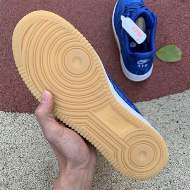 Mens CLOT x Nike AF1 PRM Royal Silk On Sale
