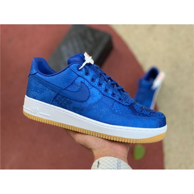 Mens CLOT x Nike AF1 PRM Royal Silk On Sale