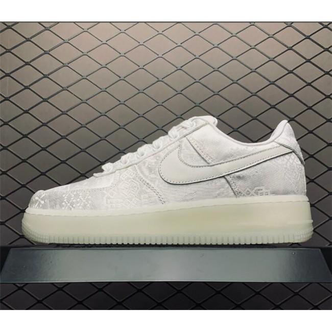 Mens/Womens CLOT x Nike Air Force 1 Premium 1WORLD White Sale