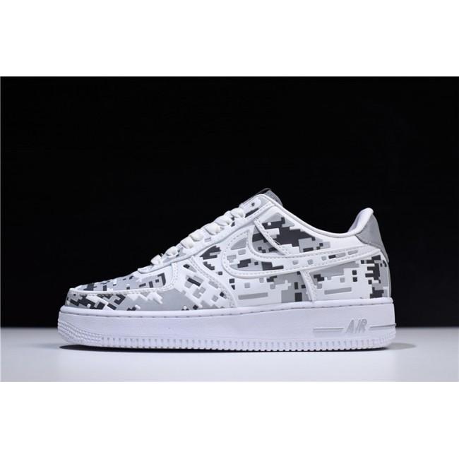 Mens Nike Air Force 1 Low Premium 08 QS Digital Camo White