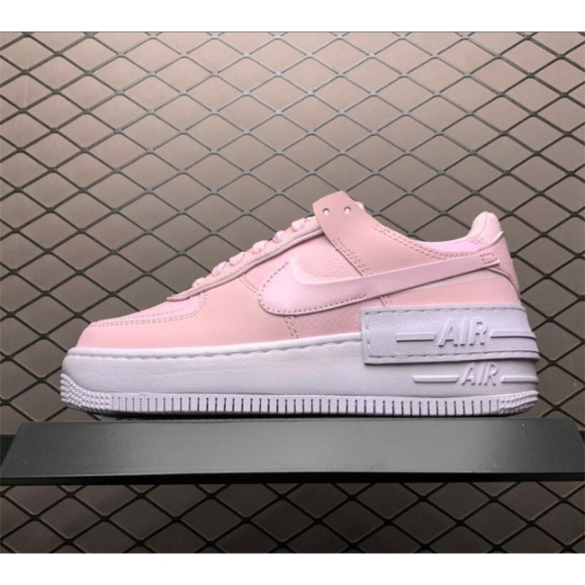 Womens Grade School Nike Air Force 1 Shadow Pink Foam Shoes