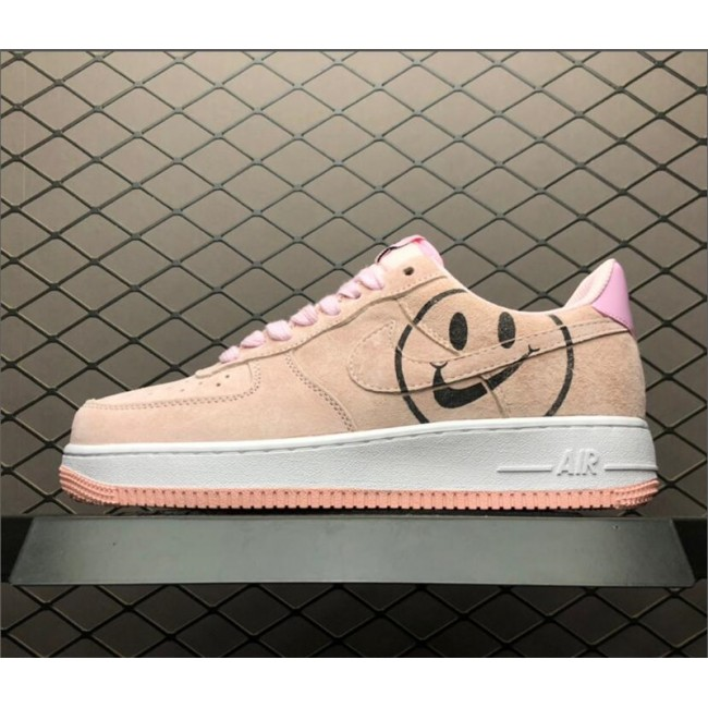 Womens GS Nike Air Force 1 Low Pink Foam Have A Nike Day With Smile