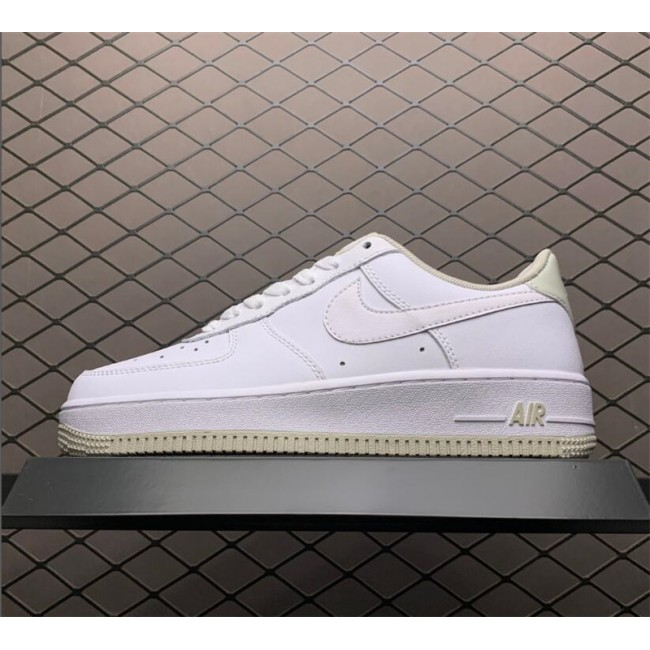Womens Latest Nike AF1 Air Force 1 07 Light Bone-White