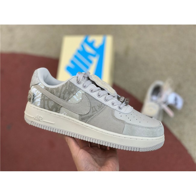 Mens/Womens Men and Nike Air Force 1 x Travis Scott Grey White