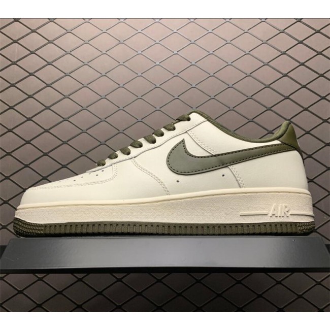 Mens/Womens Men and Nike Air Force 107 Beige Army Green