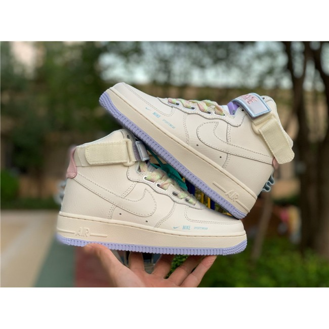 Mens/Womens Nike Air Force 1 HI UT Sail Lavender Mist CQ4810-111