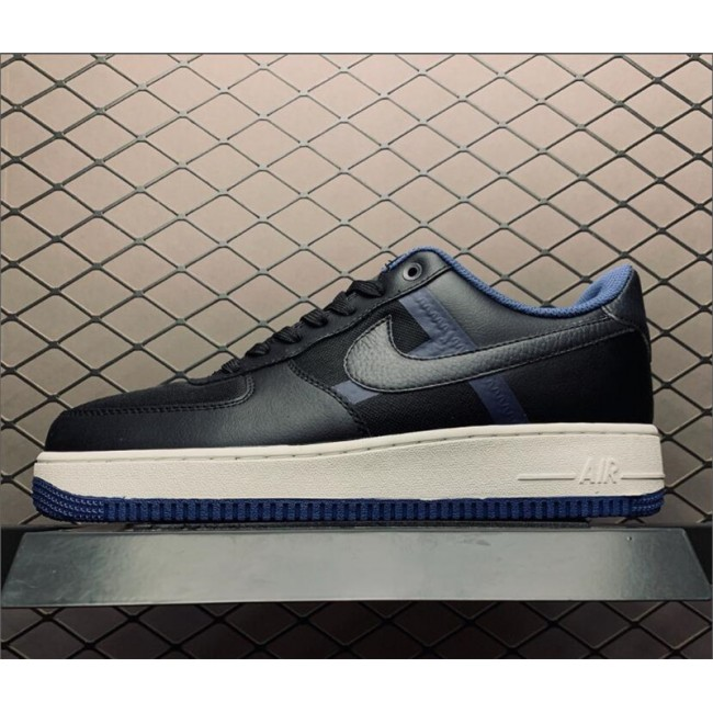 Mens Nike Air Force 1 Black White Blue