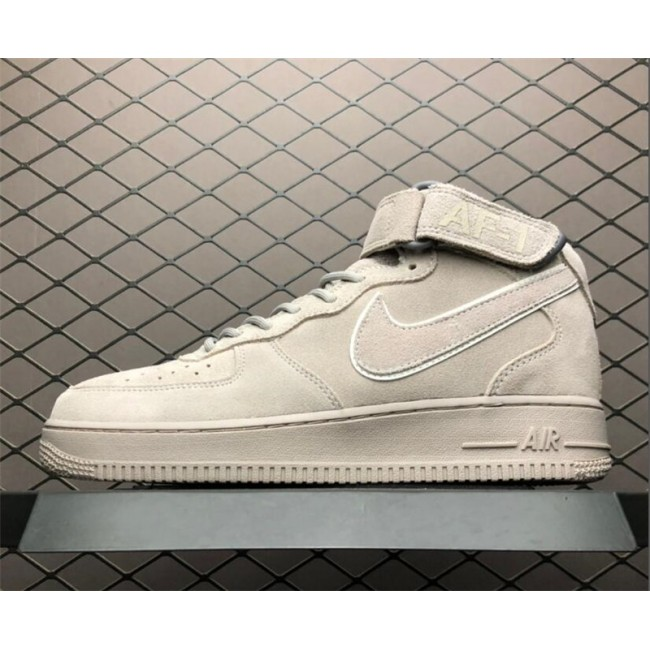 Mens Nike Air Force 1 Grey Suede
