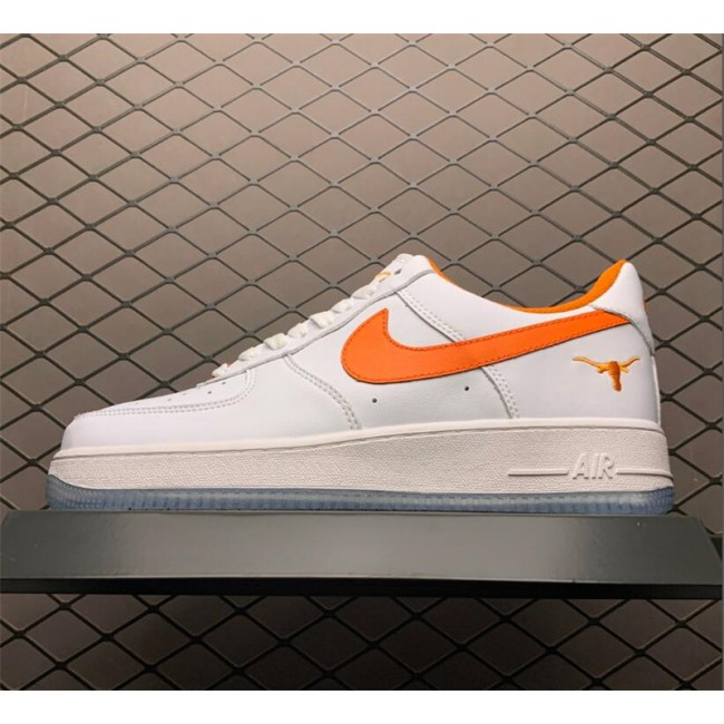 Mens Nike Air Force 1 White Orange Outlet