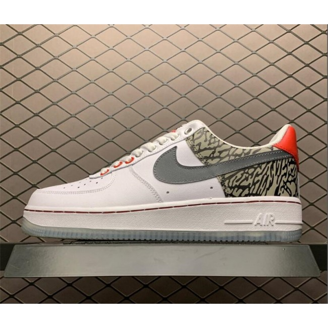 Mens Nike Air Force 107 Low White Sliver